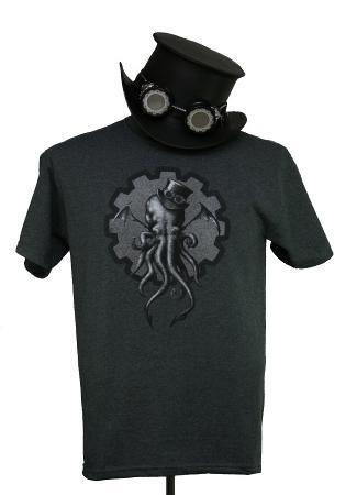steampunk cthulhu t-shirt
