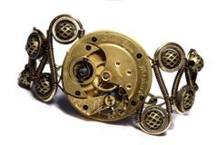 Steampunk Bracelet with Lady Elgin Watch Movement