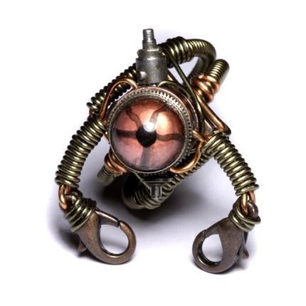 Steampunk robot artifact ring