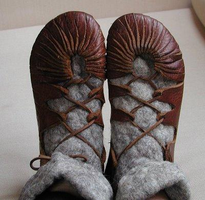 viking leather shoe