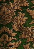 brocade green gold