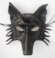 leather wolf mask