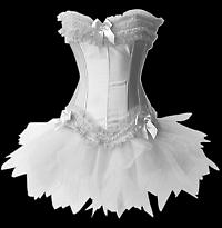 white brida corset with tutu skirt