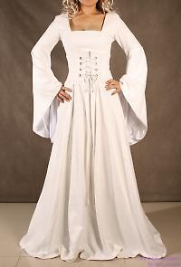 medieval white dress