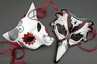 steampun animal wedding masks