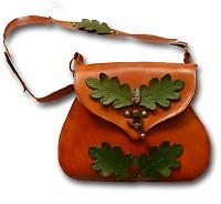 leather leaf  bag