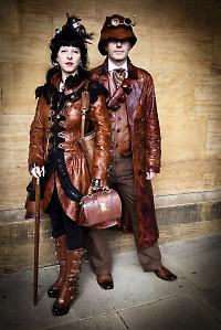 Steampunk victorian leather outfits