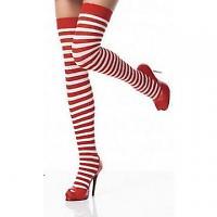 striped red socks chrismas