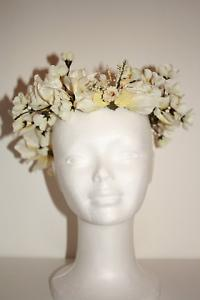 Peaceful white floral headpiece