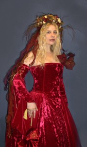 Priscilla Hernandez with custome made gown by Glory Gowns